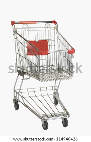 Front view of a shopping cart