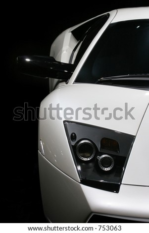 Front view of a sports car, Frankfurt motor show - stock photo