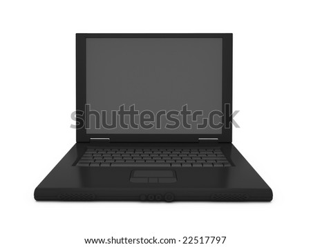 Front view of an isolated black notebook. For other similar images from the series, please, check my portfolio.