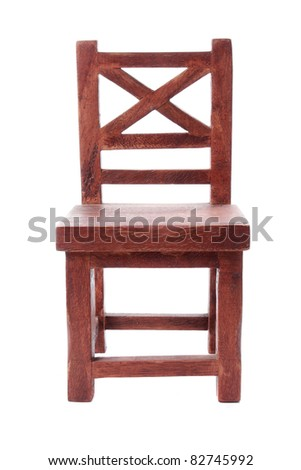 Front View Of Antique Wooden Chair