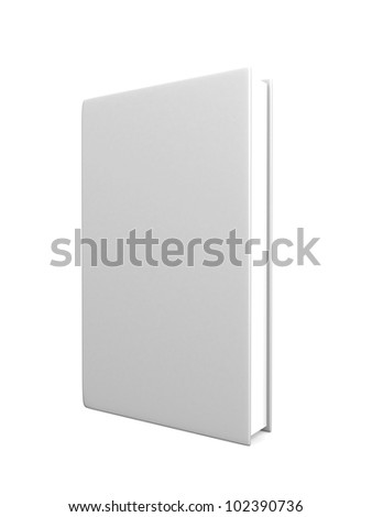 front view of Blank book cover white - 3d render - stock photo