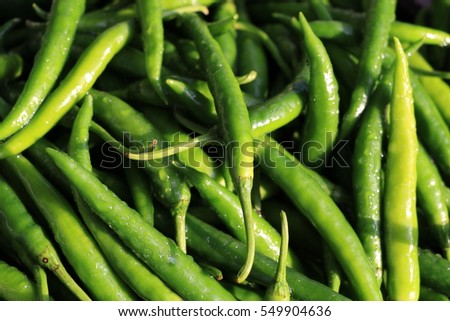 Front view of Green vegetables background