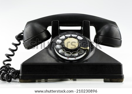 Front View of Phone - stock photo