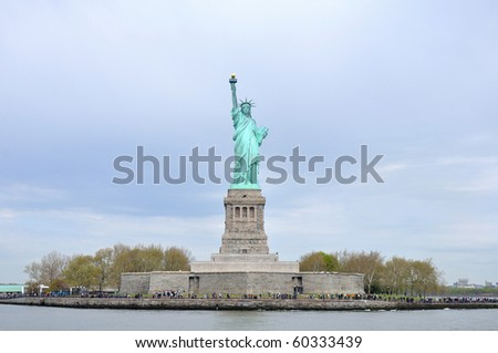Front view of Statue of Liberty - stock photo