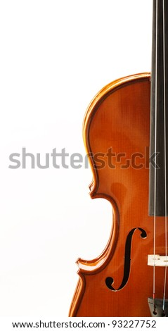 front view shot of a violin