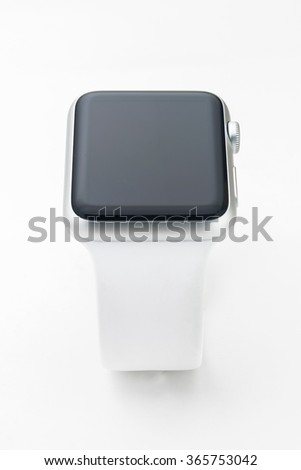 Front view smart watch isolated over with background