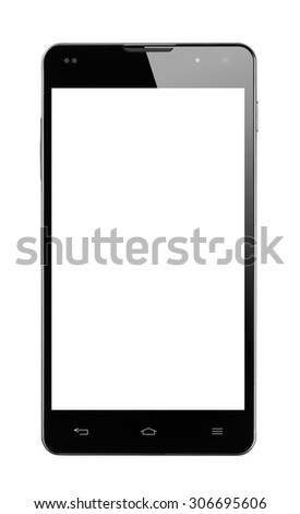 Front view Smartphone isolated