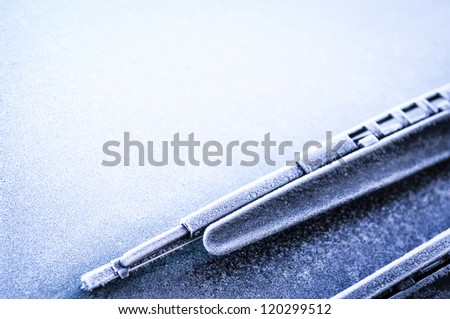 front window of a car - space for text - stock photo