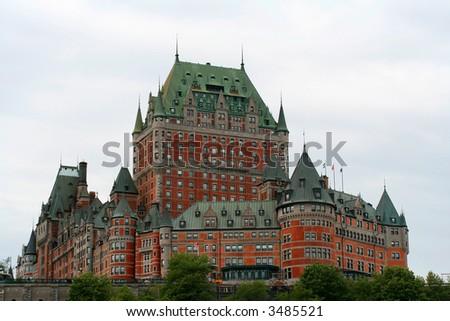 Frontenac Castle (Quebec City) - stock photo