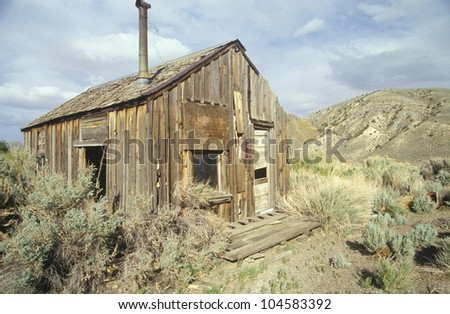 Frontier cabin of the southwest, UT - stock photo