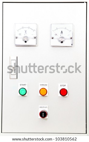 fronts panel of a control box  .
