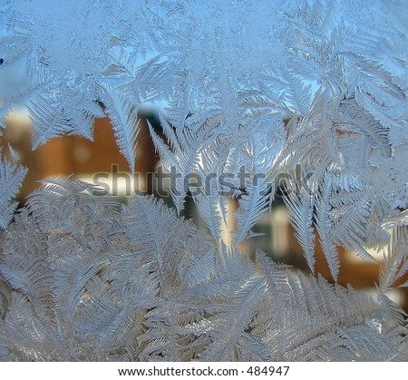 Frost-covered window