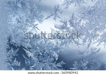 Frost winter pattern - stock photo