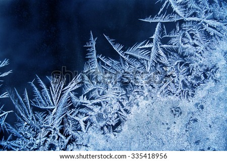 frosted window - stock photo