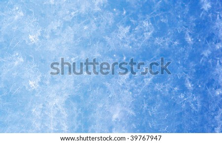 Frosty natural pattern on winter glass - stock photo