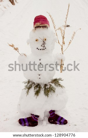 frosty the snowman - stock photo