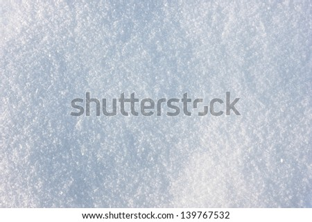 Frosty winter day, blue and white snow texture - stock photo