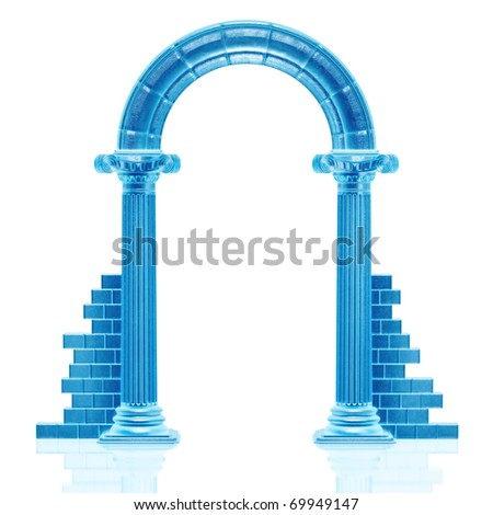 Frozen arch sculpture - stock photo