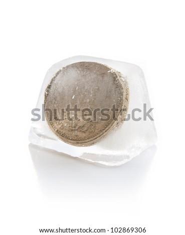 Frozen assets - stock photo