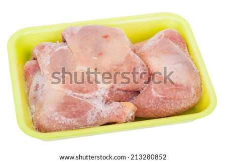 Frozen chicken legs - stock photo