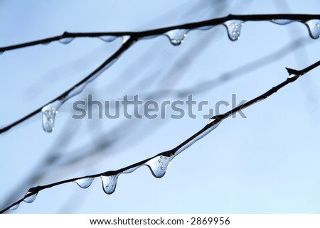 Frozen drops - stock photo