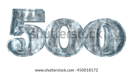 frozen five hundred - 3d rendering - stock photo