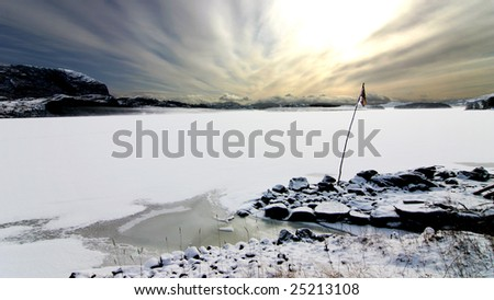 Frozen fjord in Southern Norway between Stavanger and Bergen