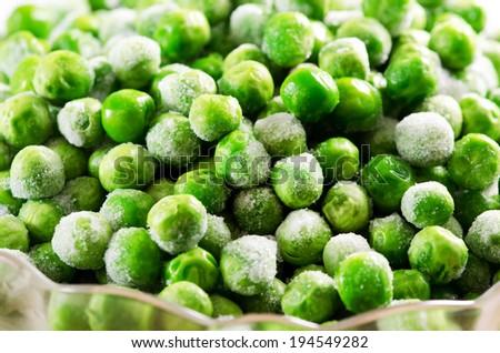 Frozen food(vegetable).Green peas. - stock photo