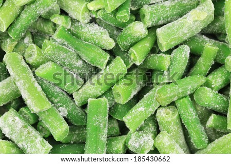 Frozen french beans. - stock photo