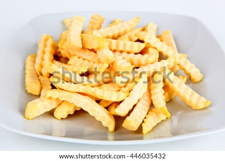 frozen french fries - stock photo