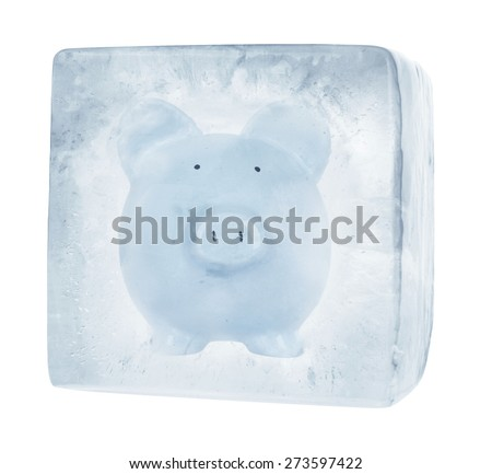 Frozen Funds - stock photo