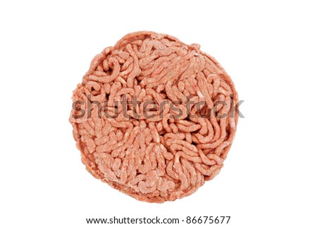frozen hamburger patty - stock photo