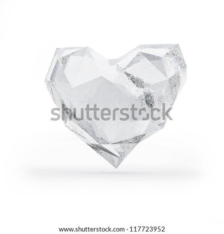 Frozen heart - stock photo