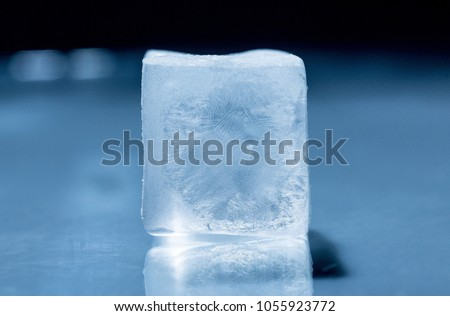 Frozen Ice Cube Stock Photo Download Now 1055923772