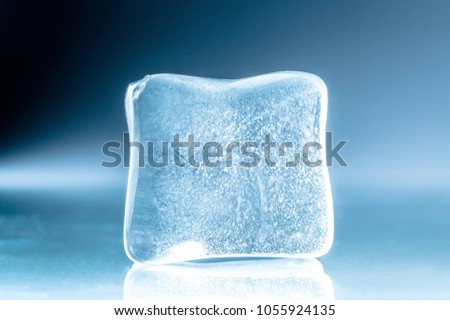 Frozen Ice Cube Stock Photo 100 Legal Protection 1055924135