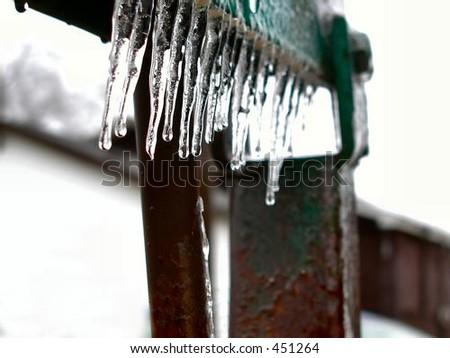 Frozen Lift - stock photo