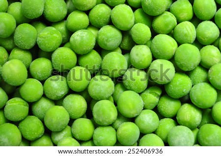 frozen peas green beans texture pattern background - stock photo