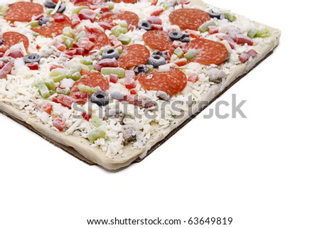 Frozen Pizza - stock photo