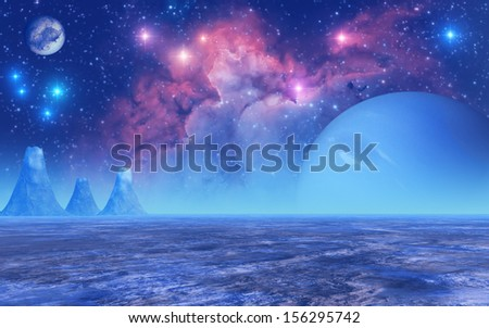 """Frozen Planet - """"Elements of this image furnished by NASA"""" - stock photo"""
