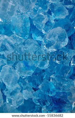 frozen real ice cube background backdrop abstract - stock photo