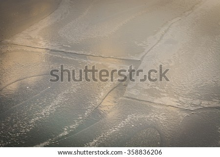 Frozen river in the winter time, great for background
