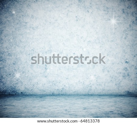 frozen room, christmas background - stock photo