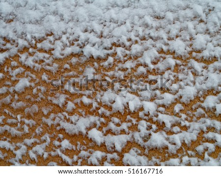 frozen rustic panel background.