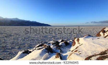 Frozen Sea Ice - stock photo