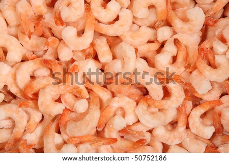 frozen shrimp on the stack for food backgrounds - stock photo