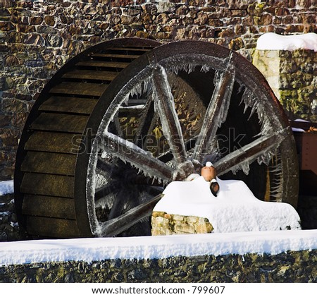 Frozen Wheel - stock photo
