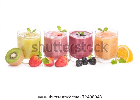 fruit and berry healthy smoothie
