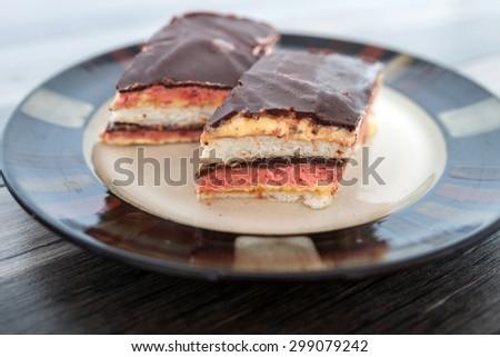Fruit and Chocolate Cake - stock photo