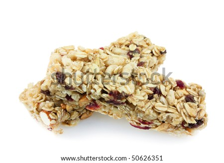 Fruit and nut granola chewy bar - stock photo