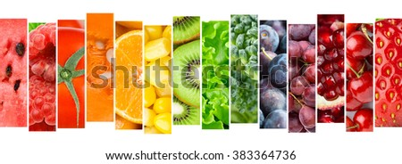Fruit and vegetable. Fresh food concept. Healthy food